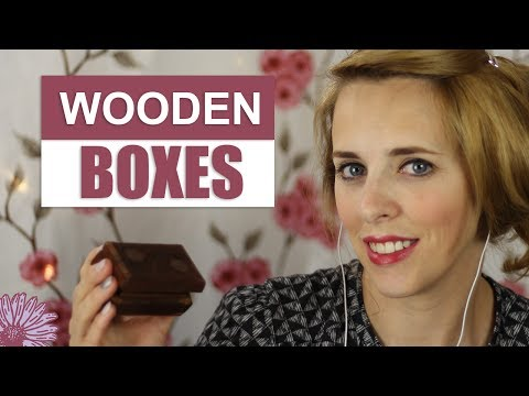 ASMR - WOODEN BOXES | 🗝️Relaxing Sounds of Wood 🗝️| Whispers, Tapping, Scrapping, Rubbing