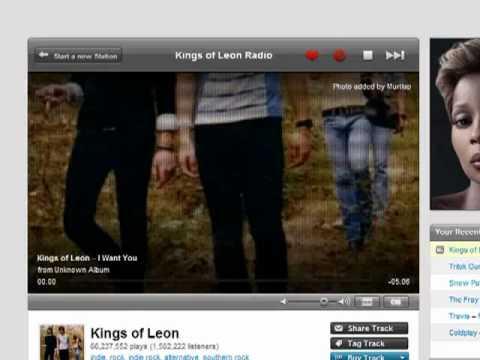 Using the Last.fm homepage