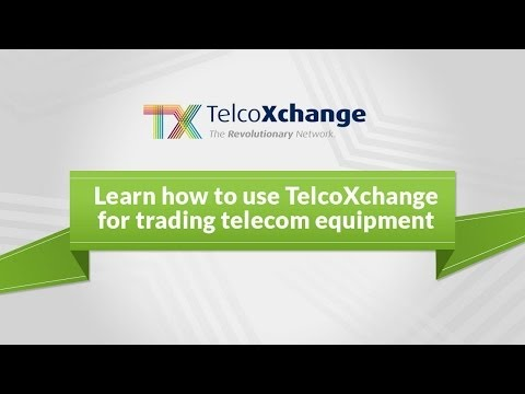 TelcoXchange Demo For Telecom & IT Equipment Trading