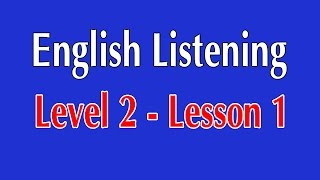English Listening Level 2 - Lesson 1 - I Want to Dye my Hair Green