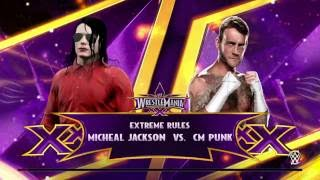 MICHAEL JACKSON VS CM PUNK!!!!! (WWE 2K15 TEST FOR WWE 2K17)