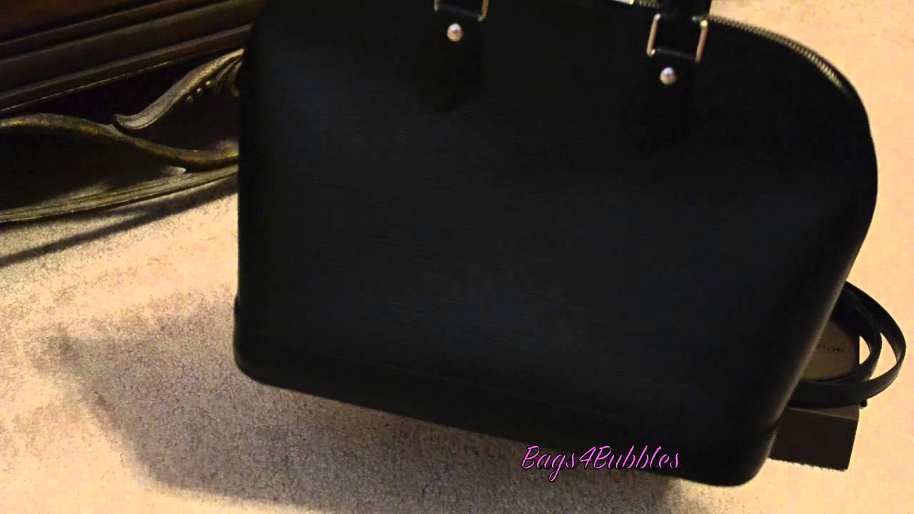 Louis Vuitton Alma Epi PM Overview - YouTube 19bf1d0a8c8e4