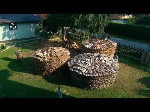 Preparing firewood - WOODPILE  - Timelapse - (28 hours effective working time) - gopro