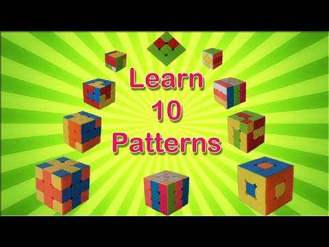 Learn 10 easy Rubik's cube patterns