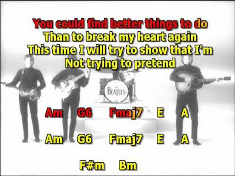 I Ll Be Back Beatles Best Karaoke Instrumental Lyrics Chords Youtube