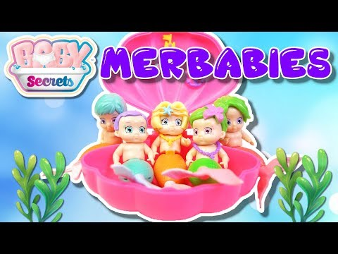 BRAND NEW BABY SECRETS MERBABIES | COLOR CHANGING BABY DOLL MERMAID SURPRISE TOYS