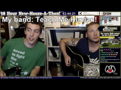 Teach Me Human performing live on the 48 hour New-House-A-Thon