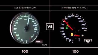 Audi S3 Sportback vs Mercedes Benz A 45 AMG Acceleration