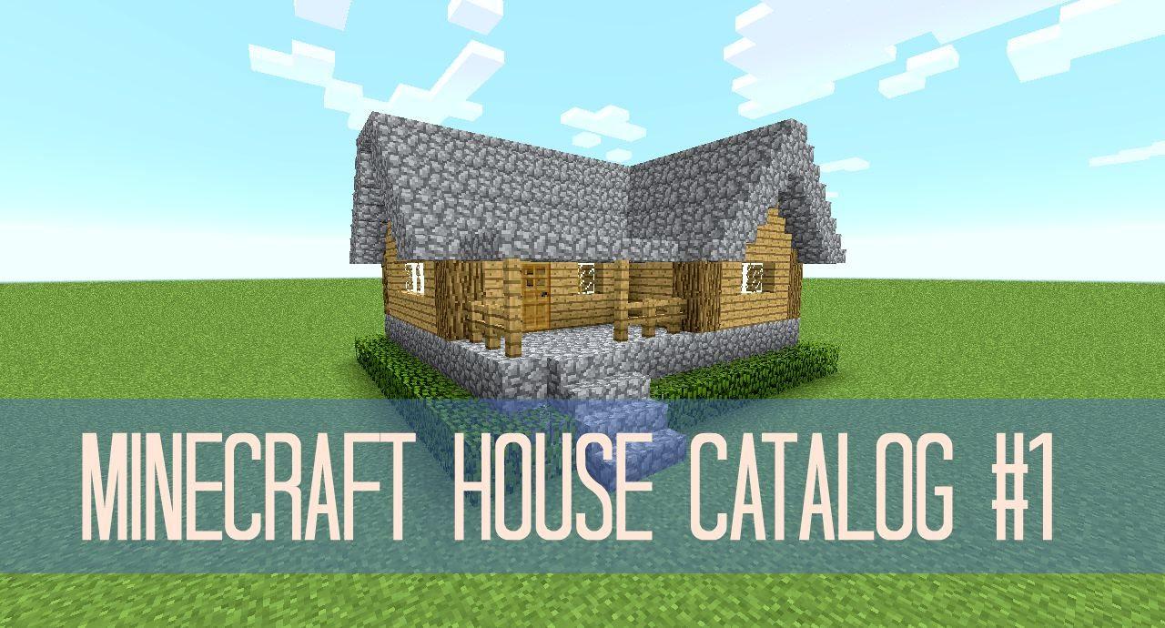 Minecraft House Catalog 1 Simple Survival House Youtube