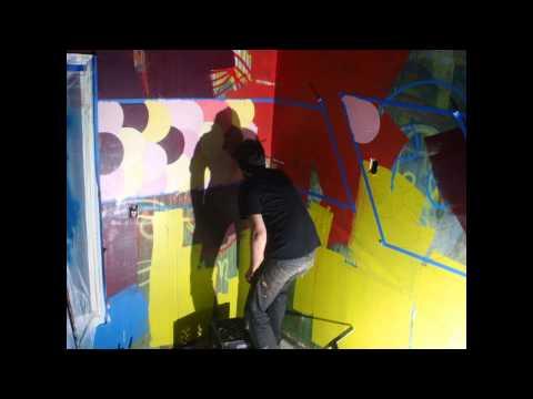 Shasta Mural Day 3 - timelapse #2 - Wireless Flash Test