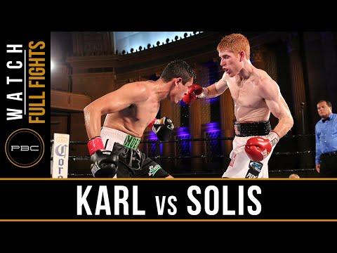 Karl vs Solis FULL FIGHT: June 25, 2016 - PBC on NBCSN
