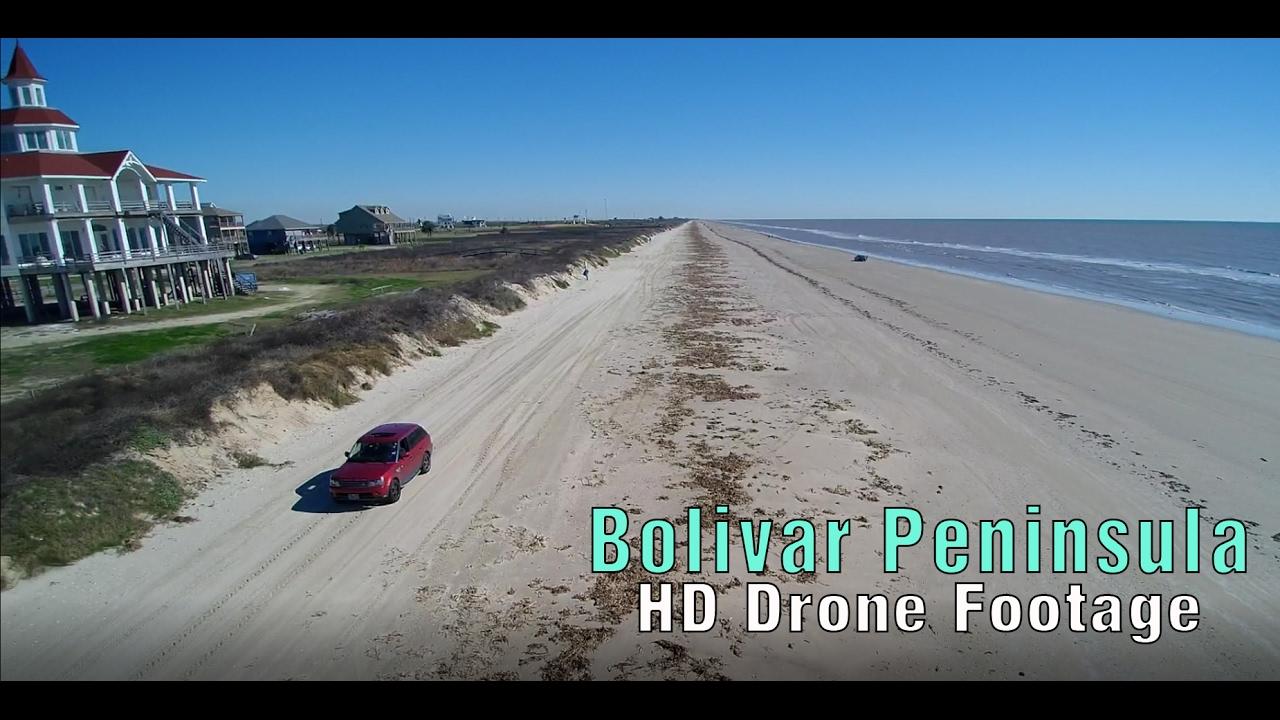 Amazing Port Bolivar Galveston Drone Footage