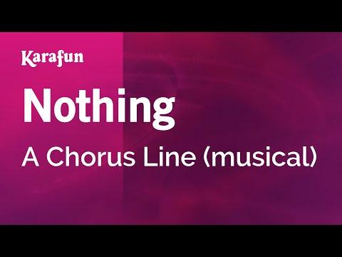 Karaoke Nothing  A Chorus Line *
