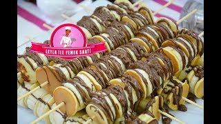 BİZE BUNU YAPMA LEYLAAA DEDİĞİNİZİ DUYAR GİBİYİM / Muzlu - Çikolatalı - Pankek Çubukları