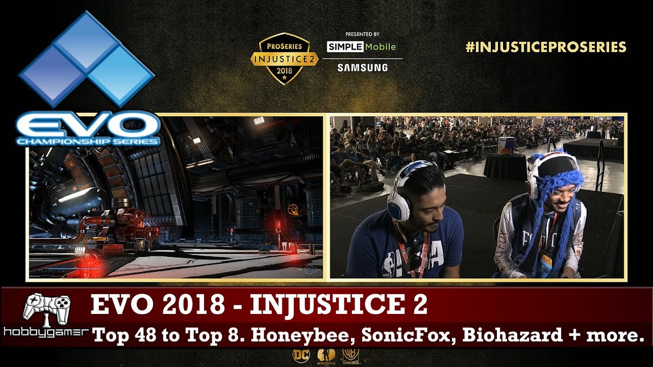 Evo 2018 Injustice 2 Top 48 To Top 8 Sonicfox Rewind Deoxys