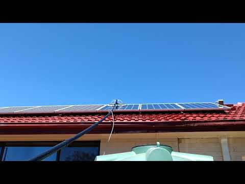 how-can-i-clean-solar-panels-from-the-ground?