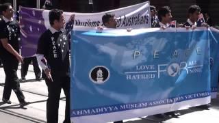 Ahmadiyyya Victoria  Australia day Prade 2014