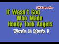 DK094 06   Wells, Kitty   It Wasn't God Who Made Honky Tonk Angels [karaoke]