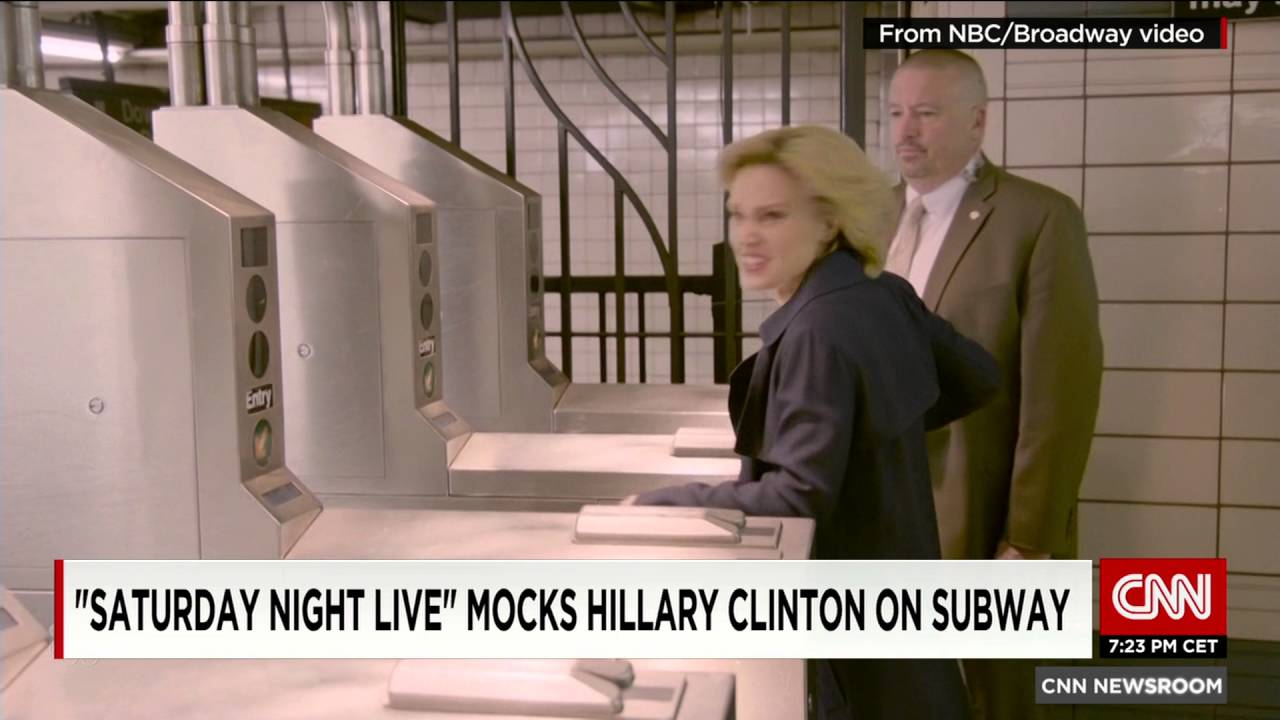 Hillary Clinton Tries To Use The Subway In Her Home State Snl Their Funny Take You