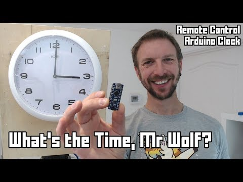 What's The Time, Mr Wolf? An Arduino remote-control clock