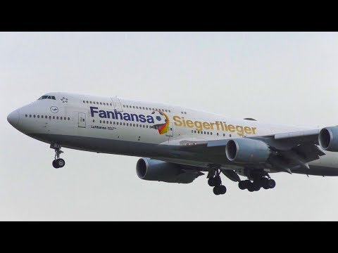 8 Boeing 747 Touchdowns at Frankfurt Airport