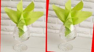 как сделать стакан из салфеток