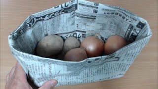 新聞紙で作る便利袋