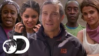 Bear Grylls Serves Up Strange Meals For Celebs | Running Wild With Bear Grylls