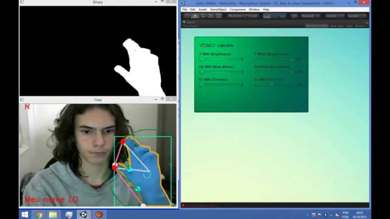 OpenCv + Unity - Gesture recognition 2 - Convexity Defect {OpenCvSharp} - C#
