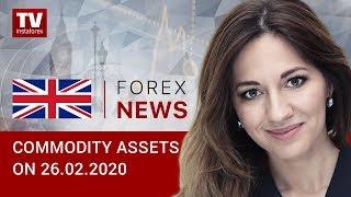 InstaForex tv news: 26.02.2020: Falling oil prices put RUB under pressure (Brent, USD/RUB)