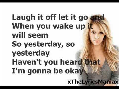 Hilary Duff - So Yesterday (Lyrics On Screen)