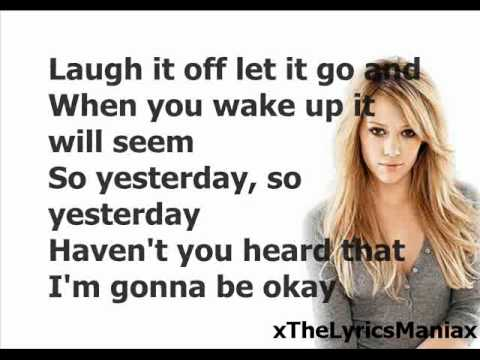 Hilary Duff - So Yesterday (Lyrics On Screen)