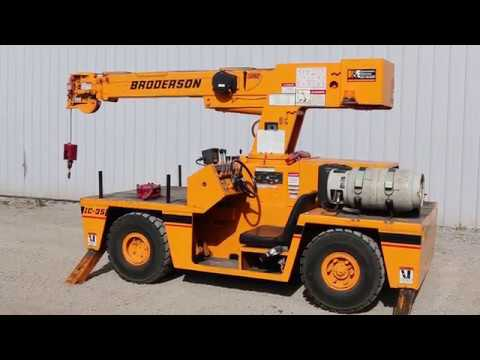 Green Industrial - 4 TON BRODERSON IC35 INDUSTRIAL CARRY DECK CRANE IC-35-2C