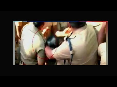 On cam: Lady cop molested in Coimbatore during anti-NEET protests