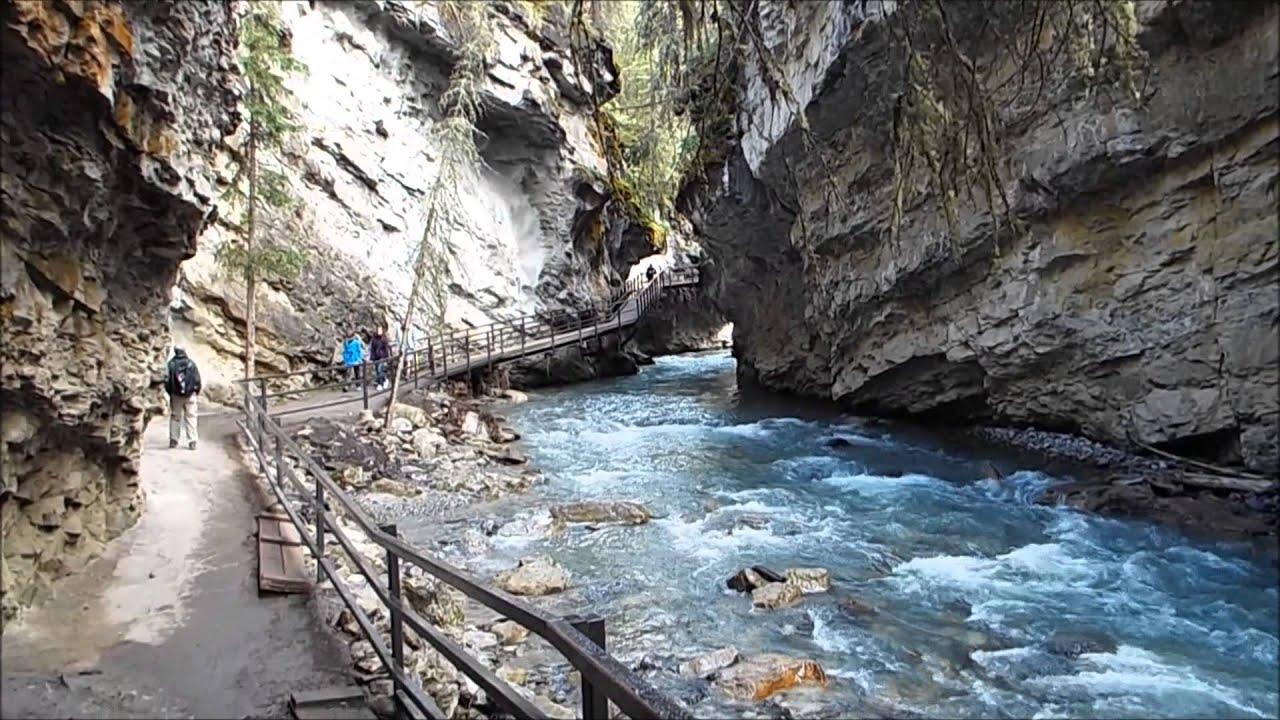 Falls Wallpaper Waterfall Johnston Canyon Youtube