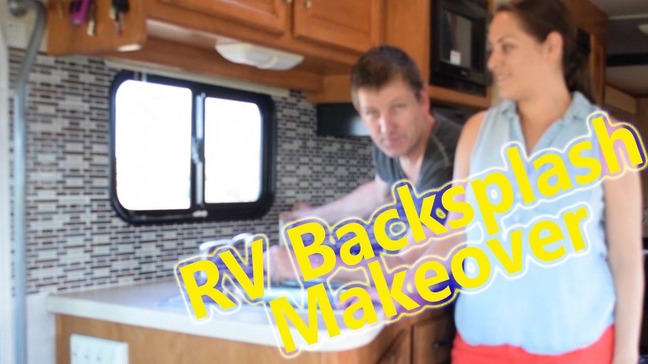 Class A Rv Living Cheap Rv Kitchen Backsplash