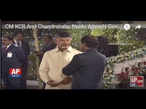 CM KCR And Chandrababu Naidu Attends Governor Narasimhan's President Dinner Party  | AP24x7