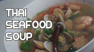 Thai Seafood Soup Recipe - Tom Yum Video