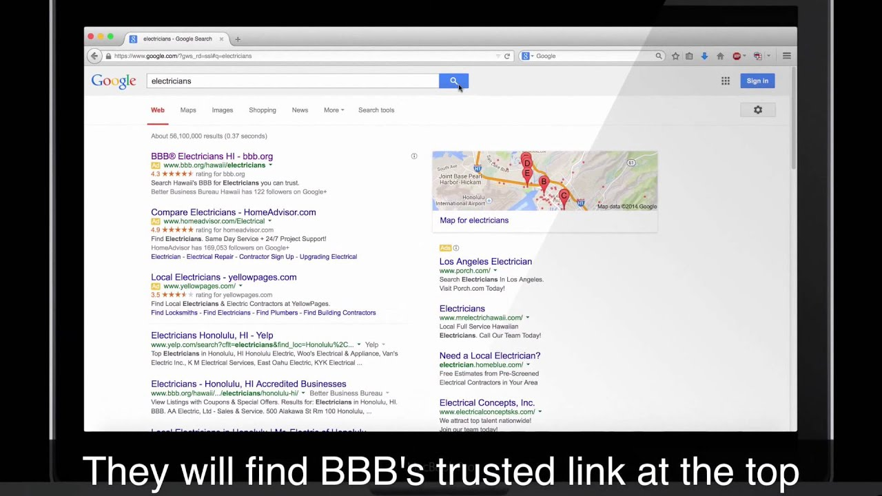 Hawaii\'s BBB Search Engine Sponsorship (SES) - YouTube
