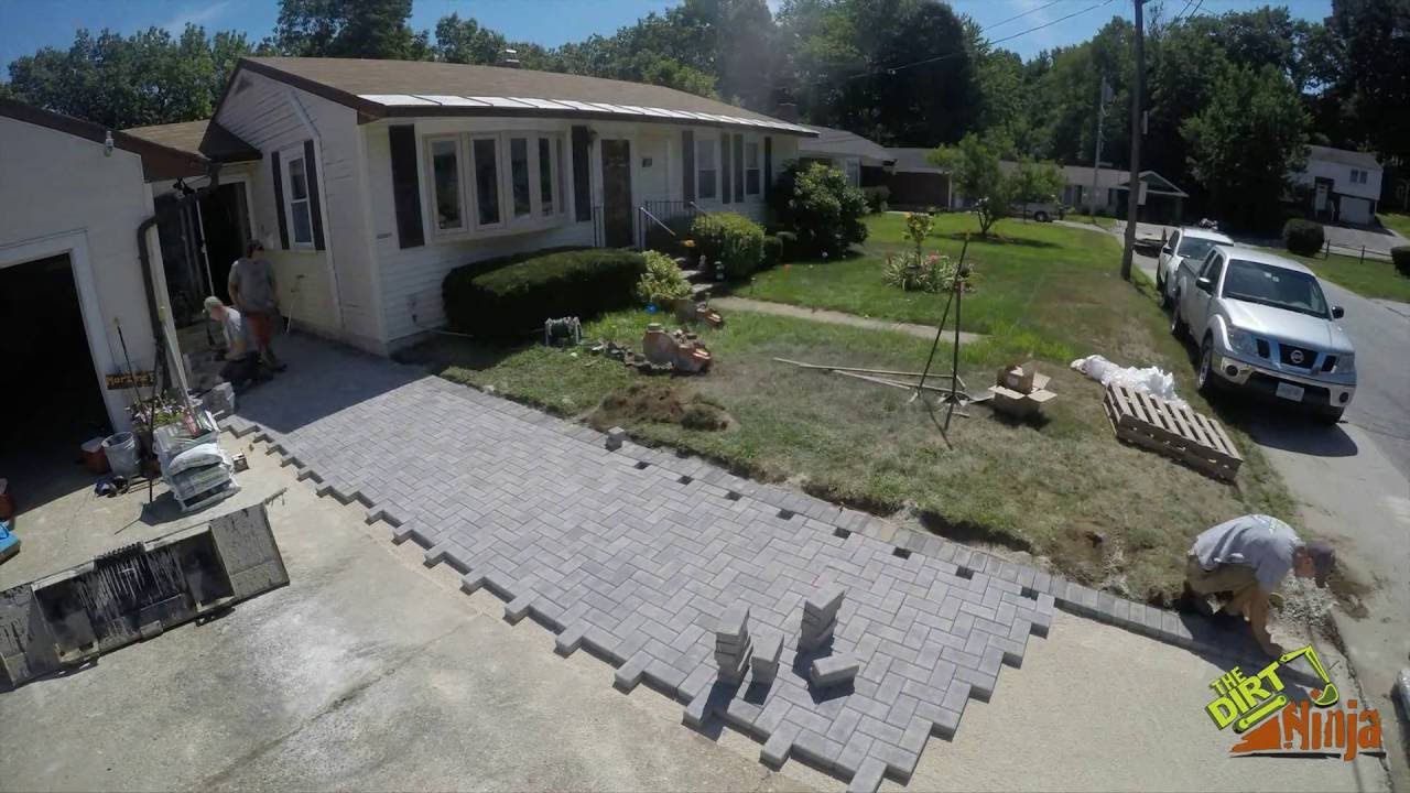 Heated Paver Walkway Construction Timelapse Youtube