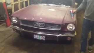 1966 mustang barn find 1st fire up