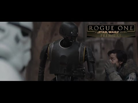 K-2SO Featurette NEW FOOTAGE - Rogue One A Star Wars Story Red Carpet World Premiere