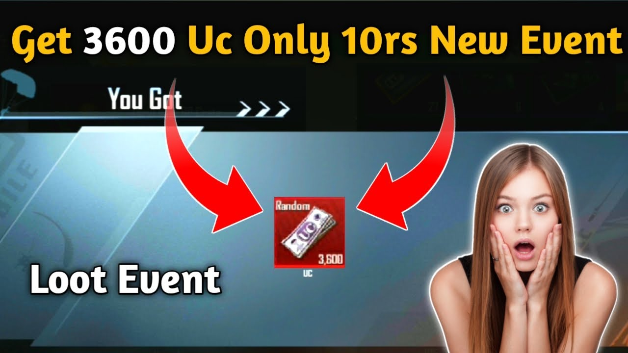 Pubg Mobile New Event Get 3600 Uc Only 10rs / Kumari Gamer