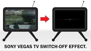 TV Switch Off Effect - Sony Vegas Tutorial: Shut Down