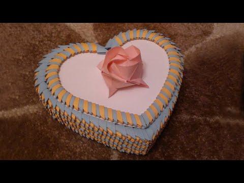 3D Origami Heart Box Tutorial