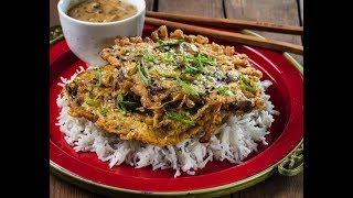 Egg Foo Young Recipe - Chinese Minced Chicken Sesame 芙蓉蛋