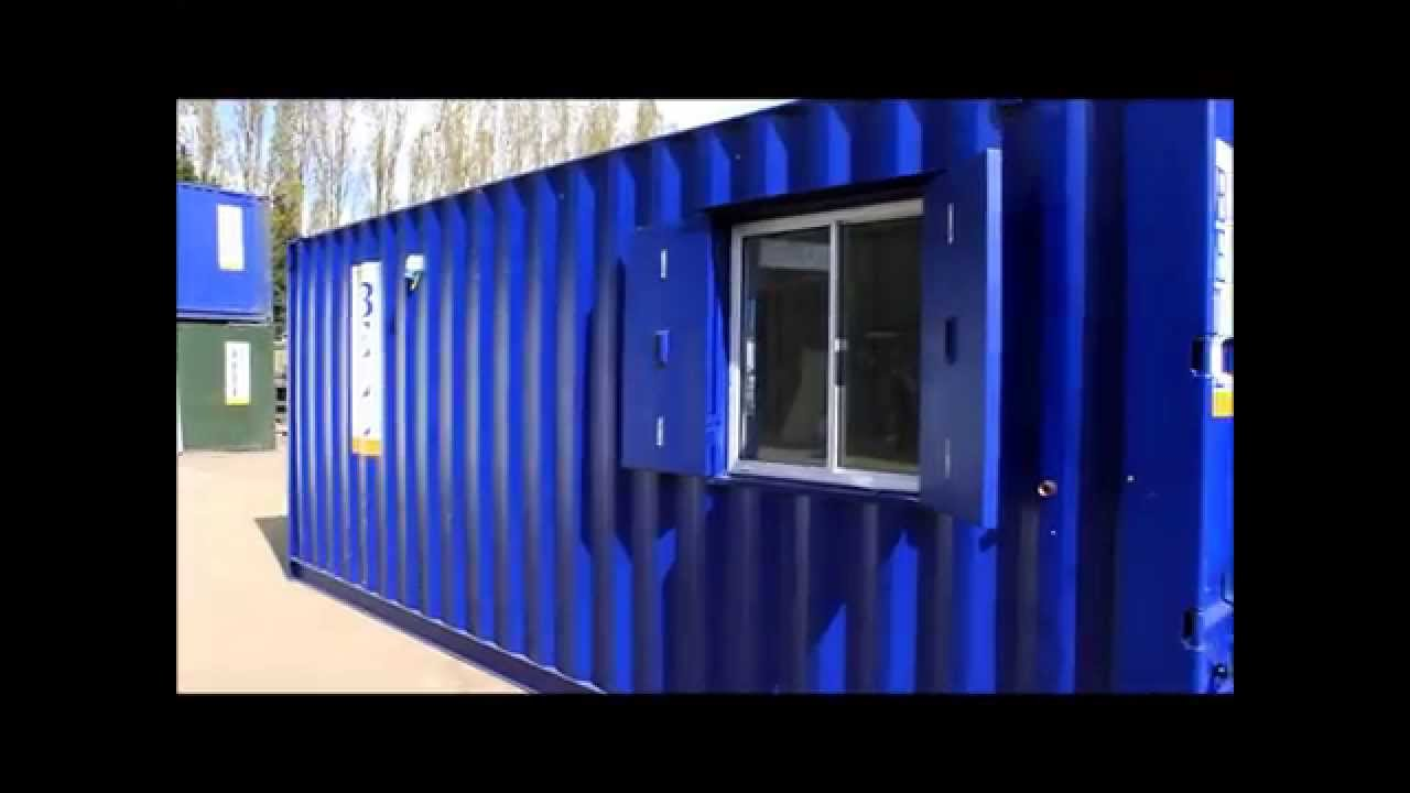 shipping container conversions storage containers for sales u0026 hire - YouTube  sc 1 st  YouTube & shipping container conversions storage containers for sales u0026 hire ...
