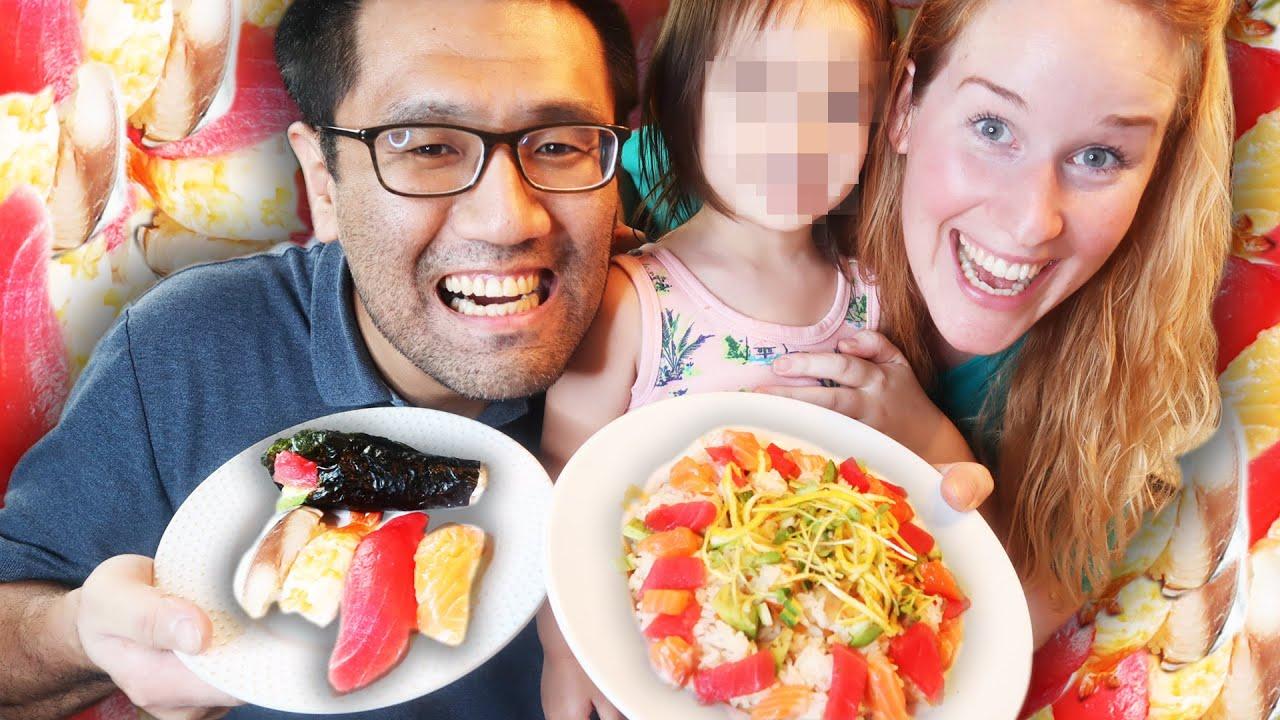 Mon mari japonais fait des sushis à la maison !