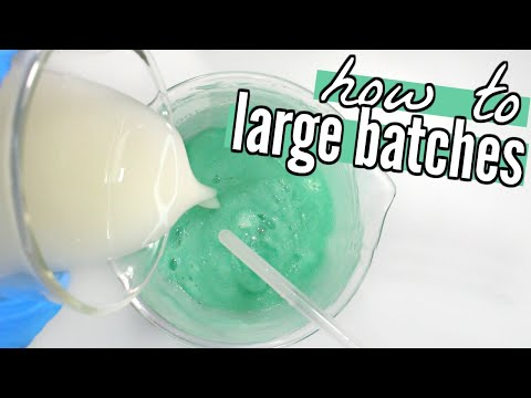 How to Make Large Batches of Cosmetics - Homemade Aloe Face Wash