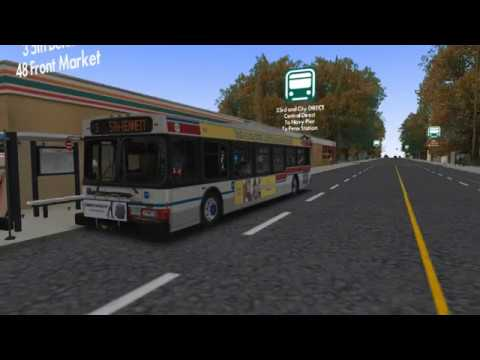 Cayuga USA Route 3 with New Flyer D40LF (DD50) - OMSI 2